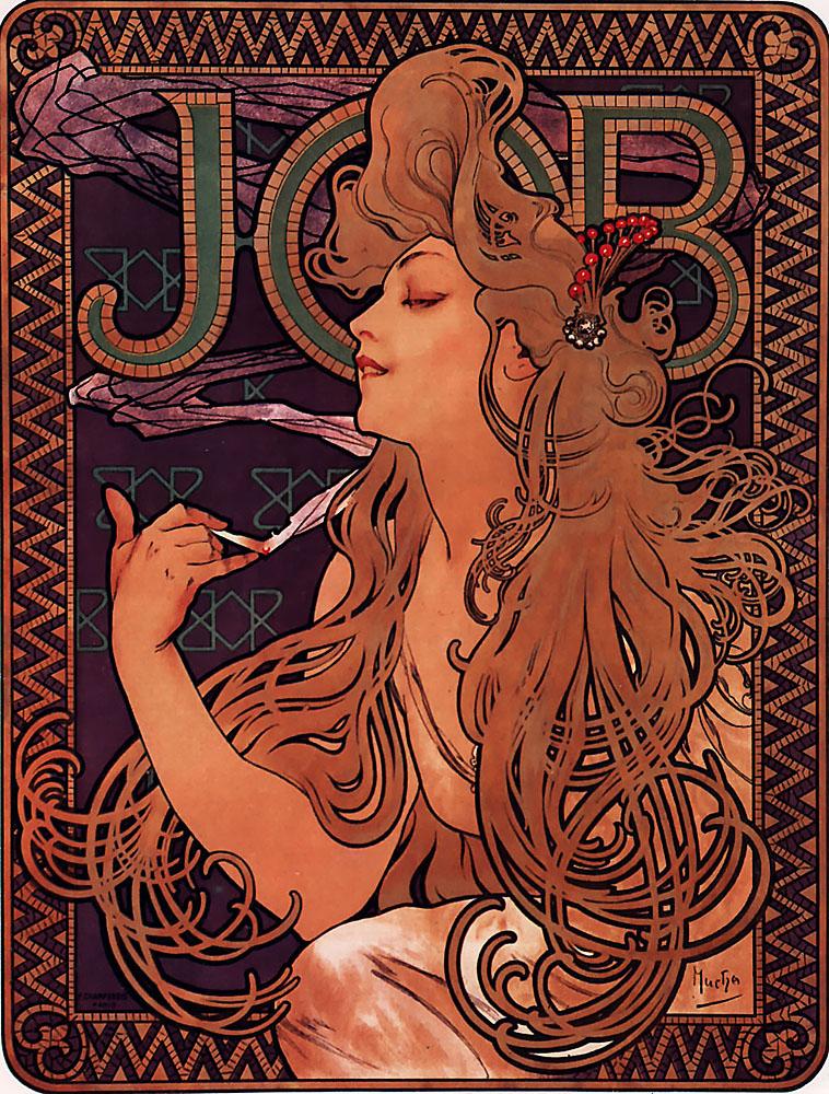 alphonse mucha - job - 1896_909